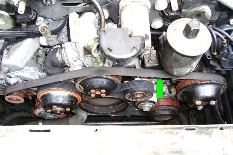 Mercedes Benz R129 Drive Belt Removal SL500 500SL 1990