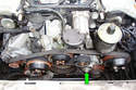 This photo illustrates the front of the motor.