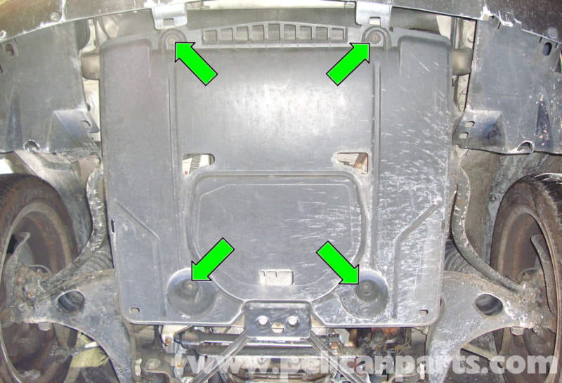 Mercedes Benz R129 Lower Engine Splash Shield Removal