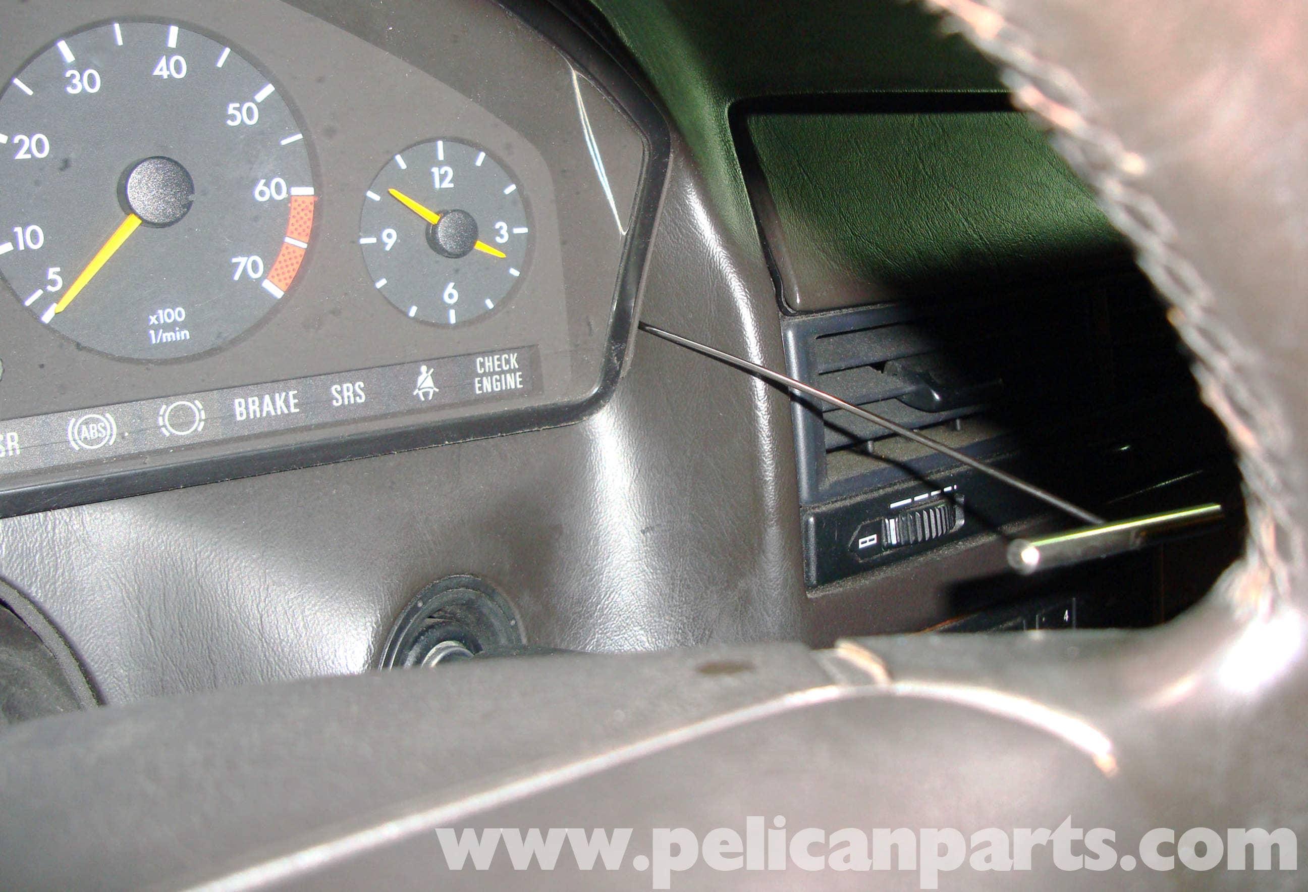 Mercedes-benz R129 Instrument Cluster Bulk Removal