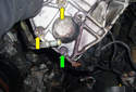 Position the power steering pump so you are looking at the back of it.