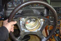 Pull back on the steering wheel to remove it from the shaft.