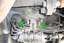 This Picture illustrates the left side fuel pump assembly that faces the driveshaft.