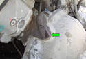 Here we are at the back of the engine on the top left side of the transmission bell-housing.
