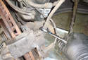 Front Brake Hose: This picture illustrates the left side front caliper.
