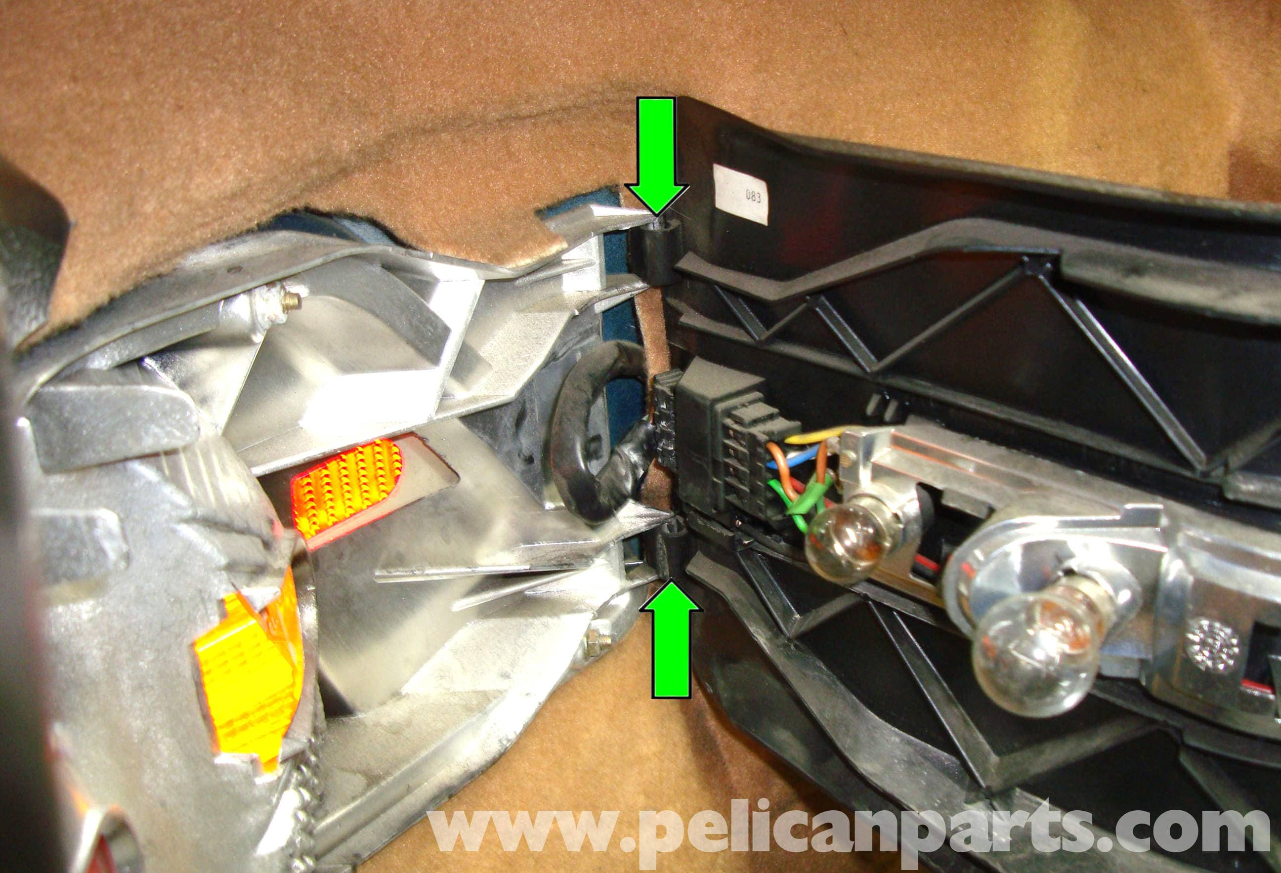 Mercedes-Benz R129 Tail Light Assembly Removal - SL500