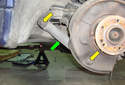 This Picture illustrates the front of the left side wheel well.