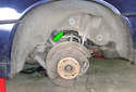 This picture illustrates the left side rear wheel well.