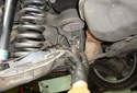 Remove the hydraulic roll bar sensor from the car.
