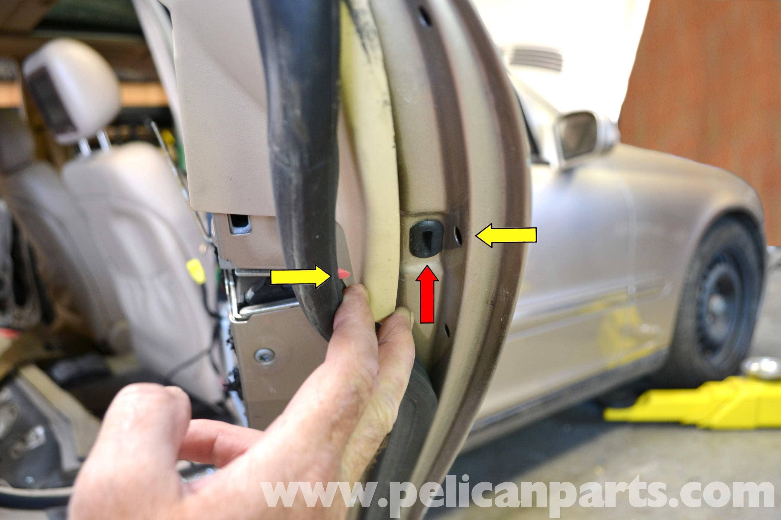 Mercedes Benz W203 Rear Door Handle Removal 2001 2007