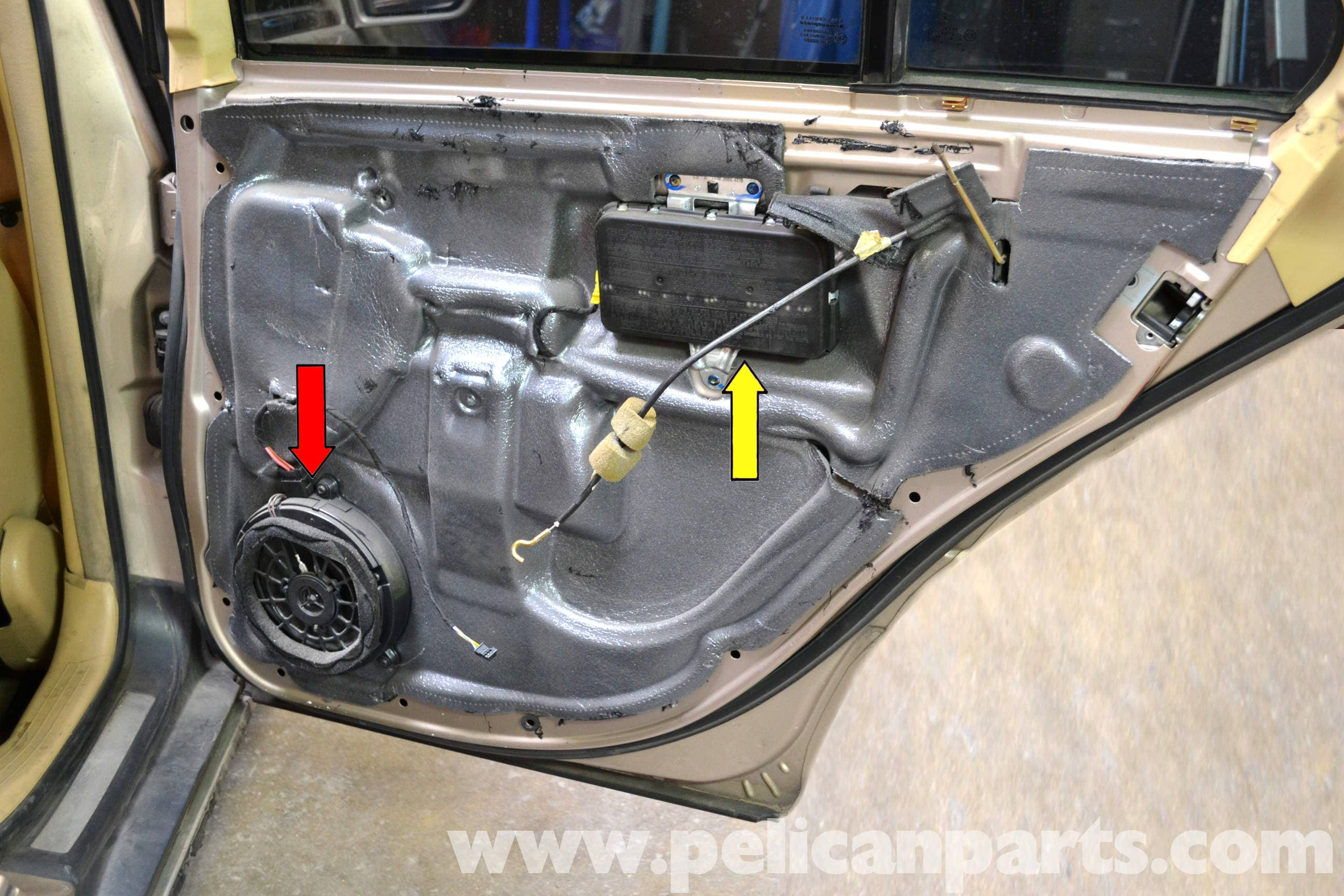 Large Image | Extra-Large Image & Mercedes-Benz W203 Rear Door Handle Removal - (2001-2007) C230 C280 ...