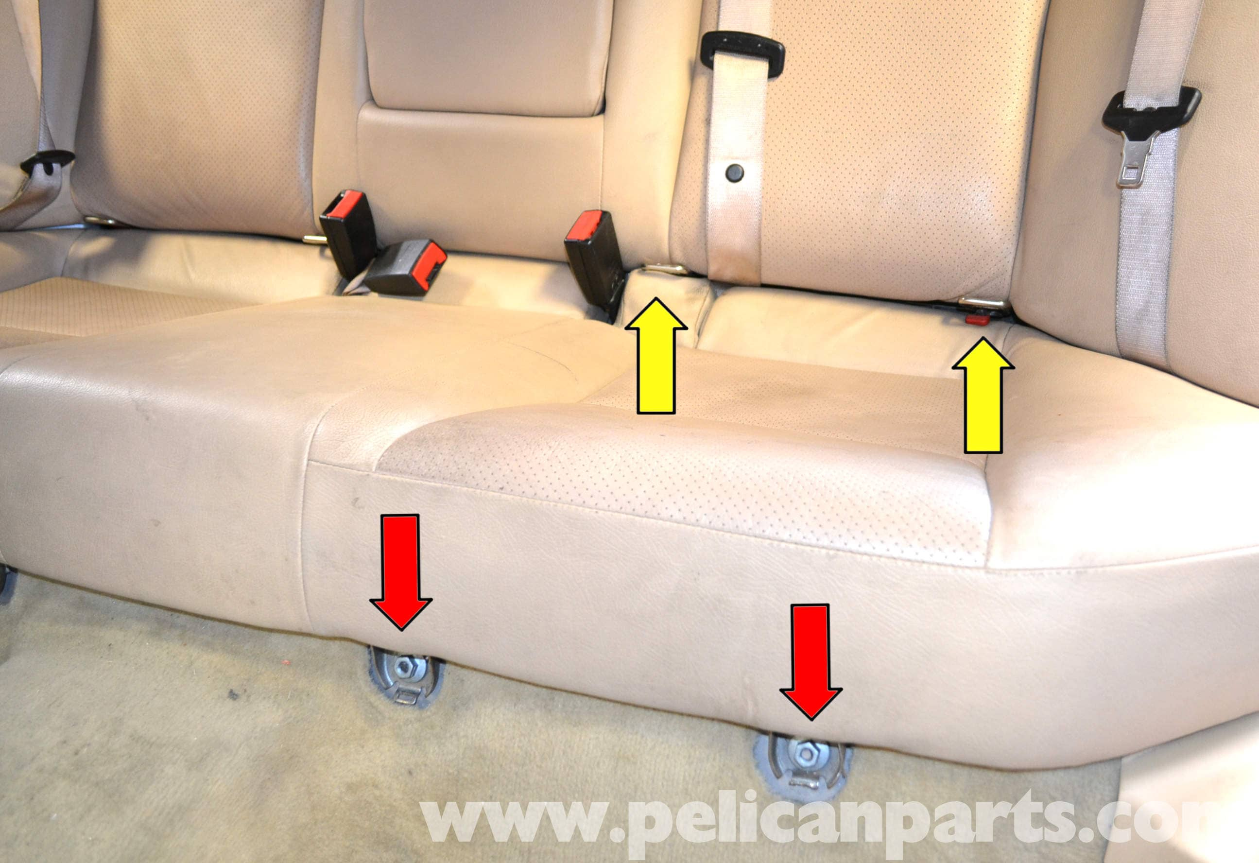 Mercedes Benz W203 Seat Removal 2001 2007 C230 C280