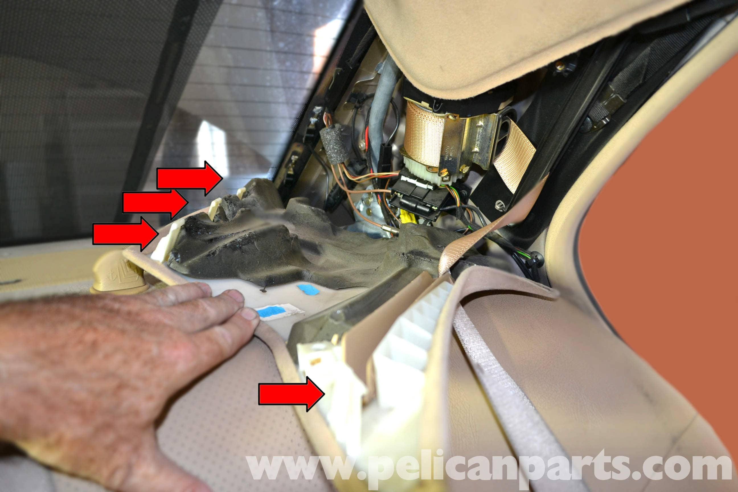 Mercedes Benz W203 Interior Pillar Panel Replacement