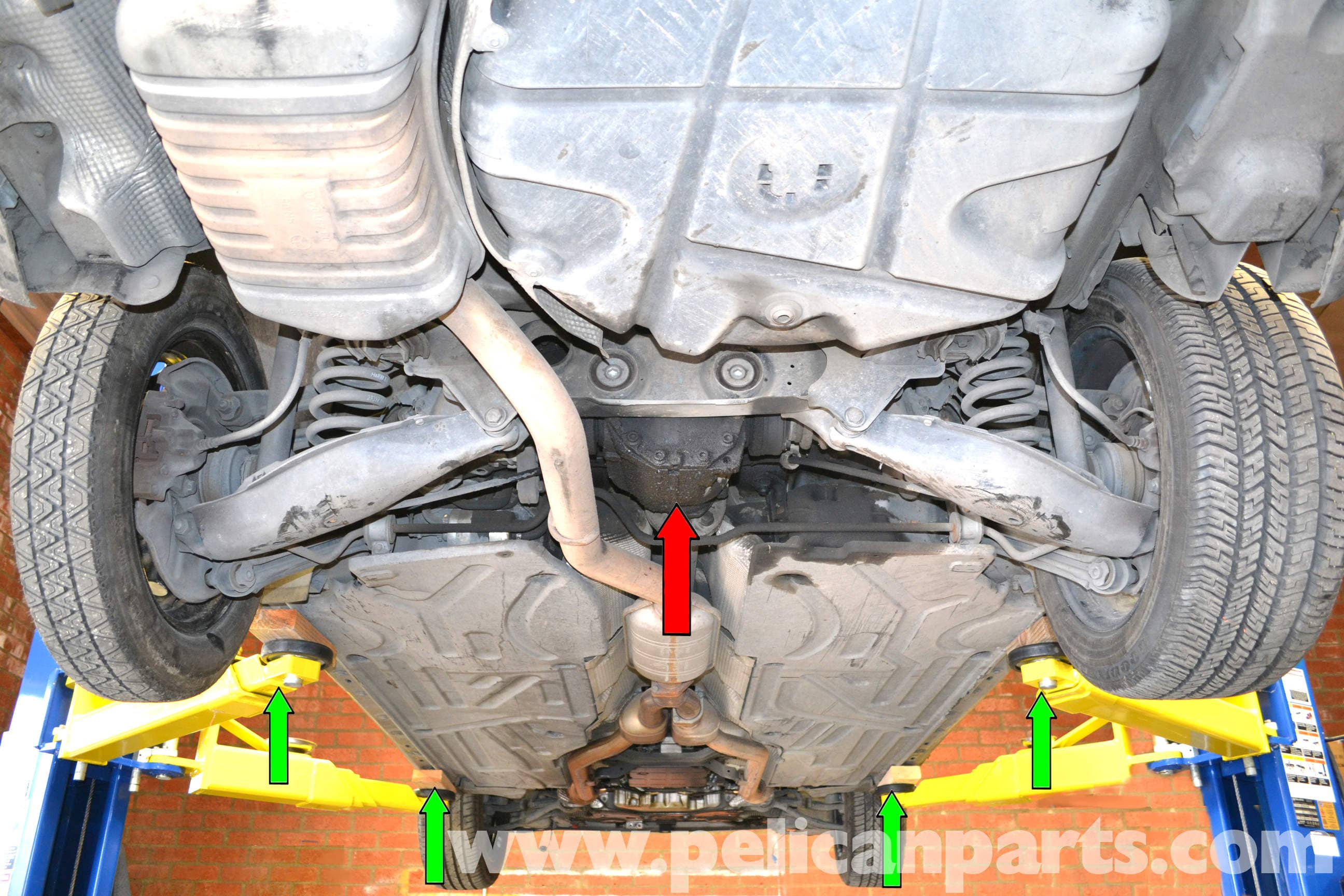 Mercedes Benz W203 Jacking Up Your Vehicle 2001 2007