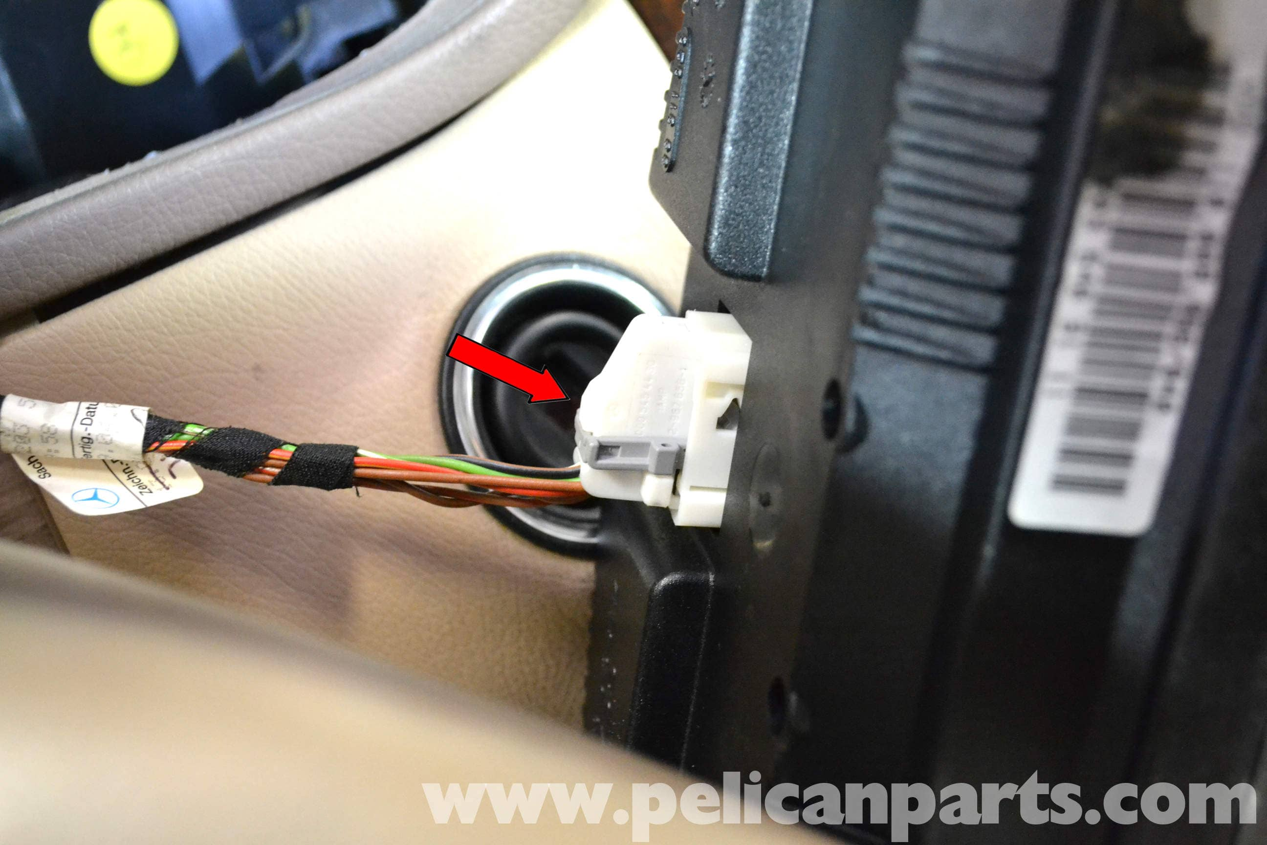 Mercedes Benz W203 Instrument Cluster Removal 2001 2007 C230 Phone Wiring Large Image Extra