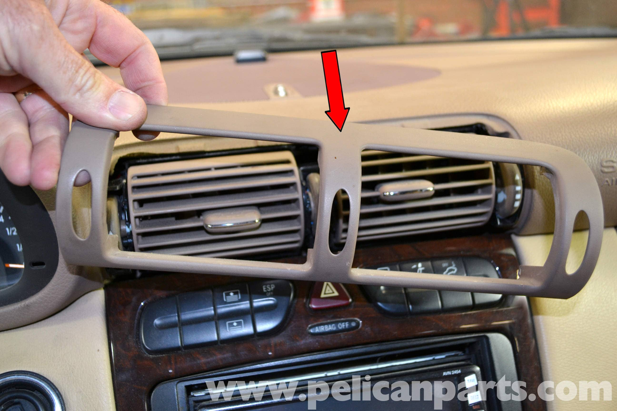 Mercedes-Benz W203 Upper Center Console Removal - (2001-2007