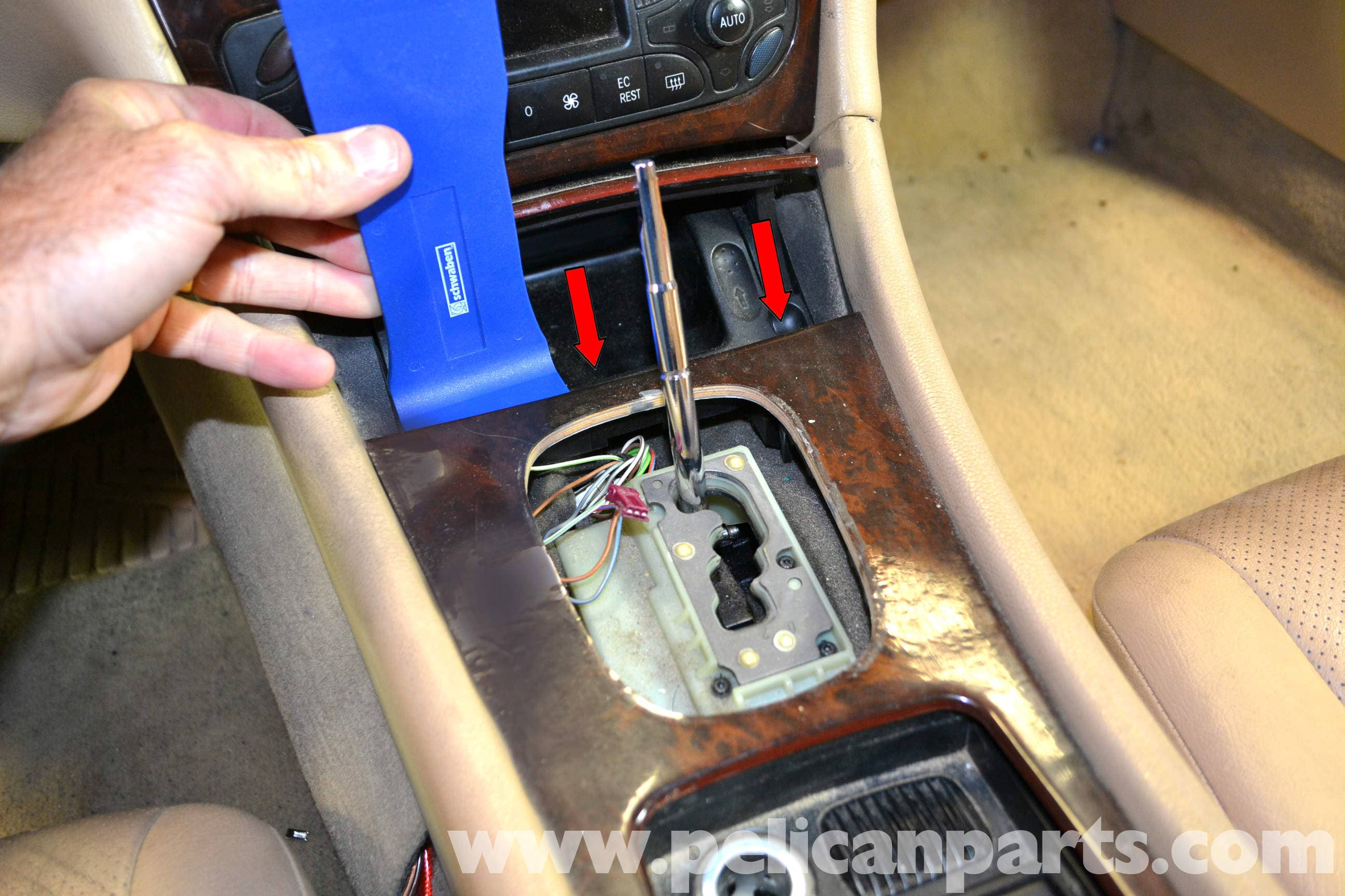 Mercedes Benz W203 Cup Holder Cover Removal 2001 2007