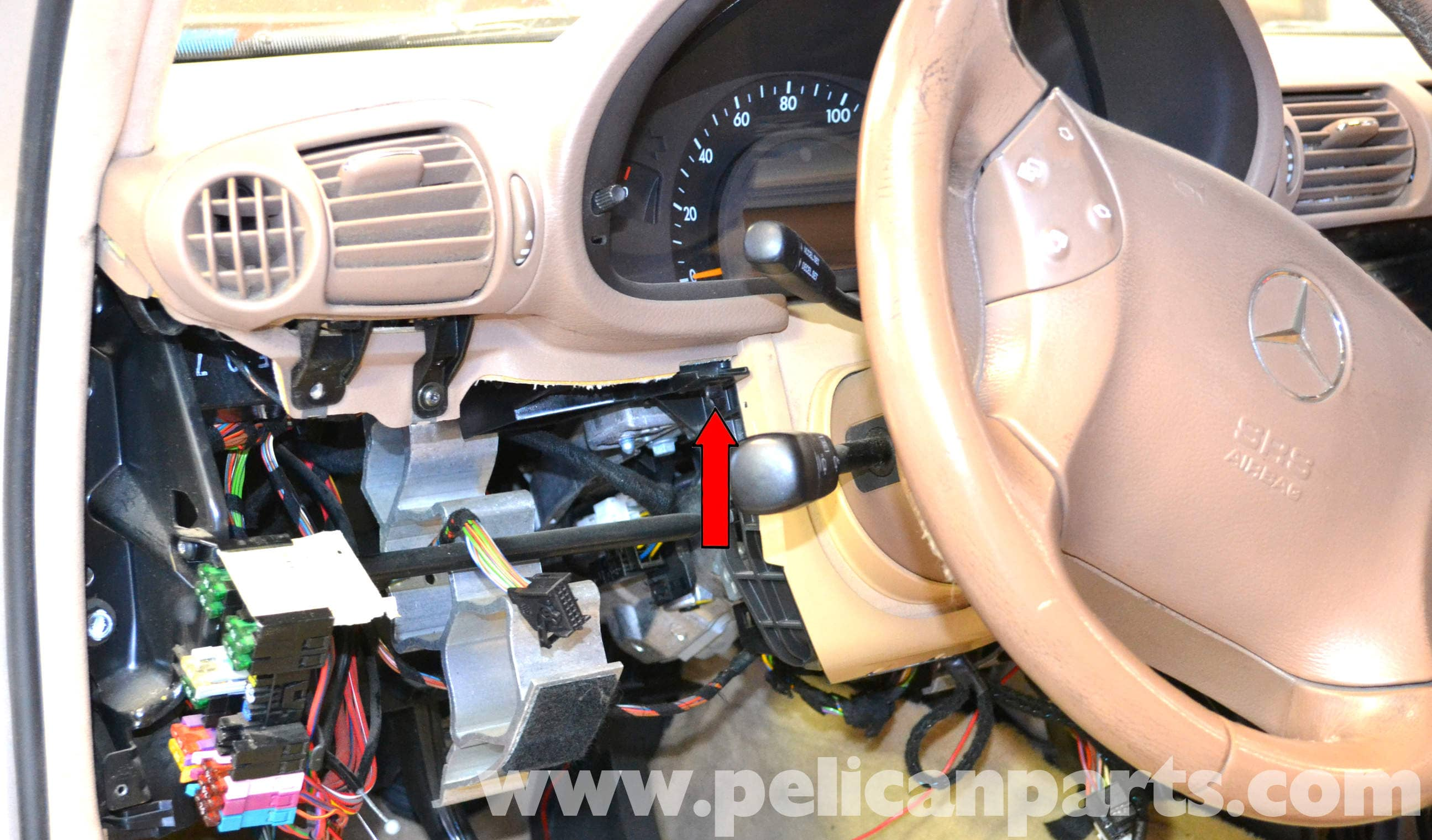 pic08 mercedes benz w203 ignition switch replacement (2001 2007) c230 Toyota Corolla Wiring Harness at cos-gaming.co