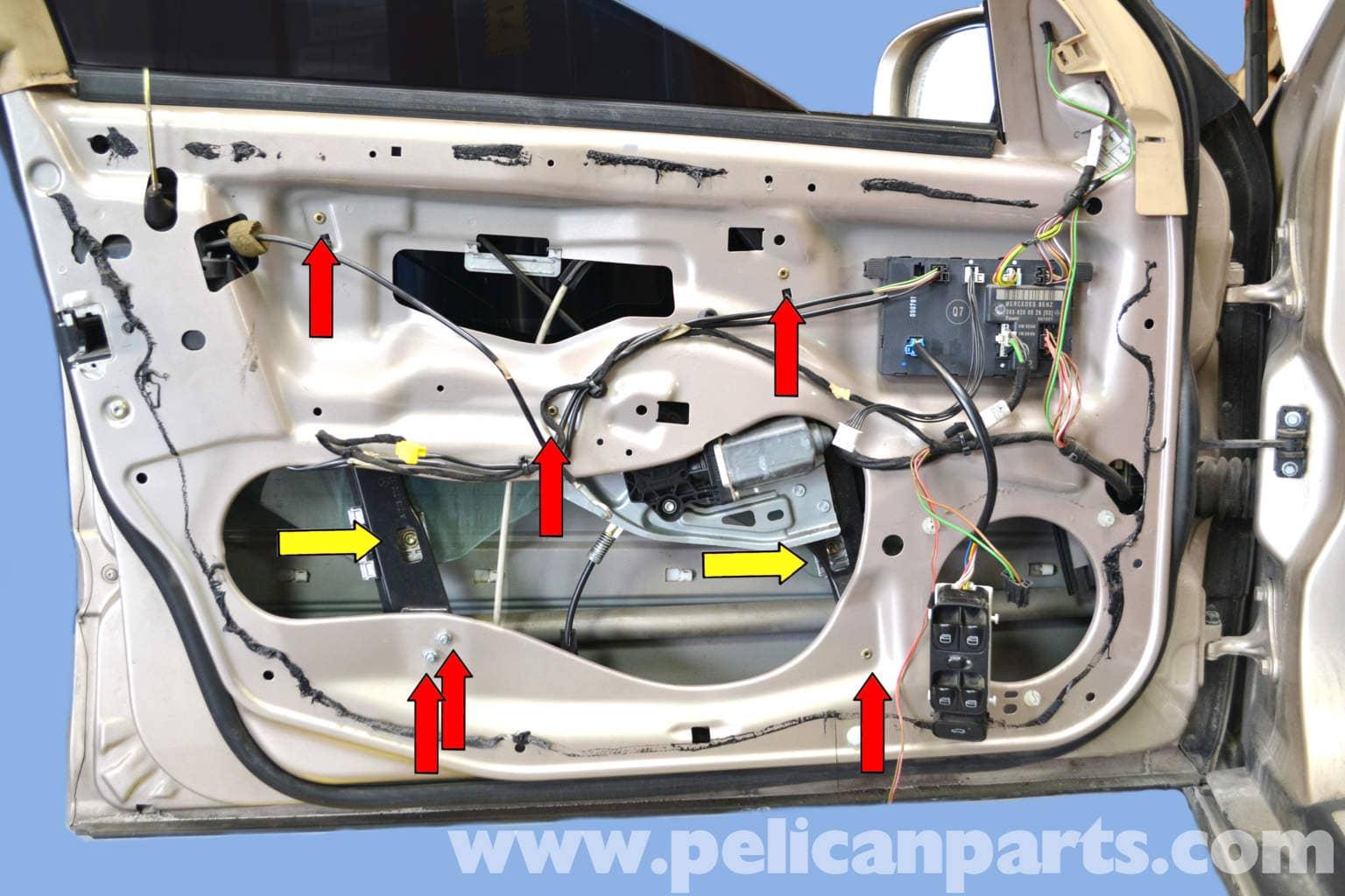 Mercedes benz w203 front window regulator replacement for Replacement parts for mercedes benz