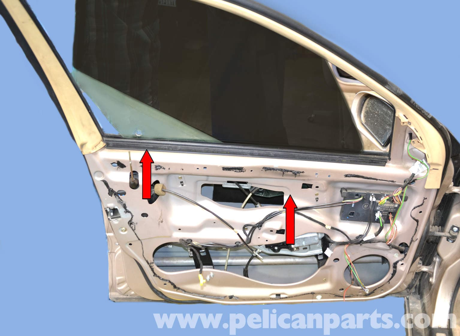 Mercedes benz w203 front window regulator replacement for Aftermarket parts mercedes benz