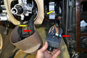 With the lower dash removed follow the wires to their connecting points.