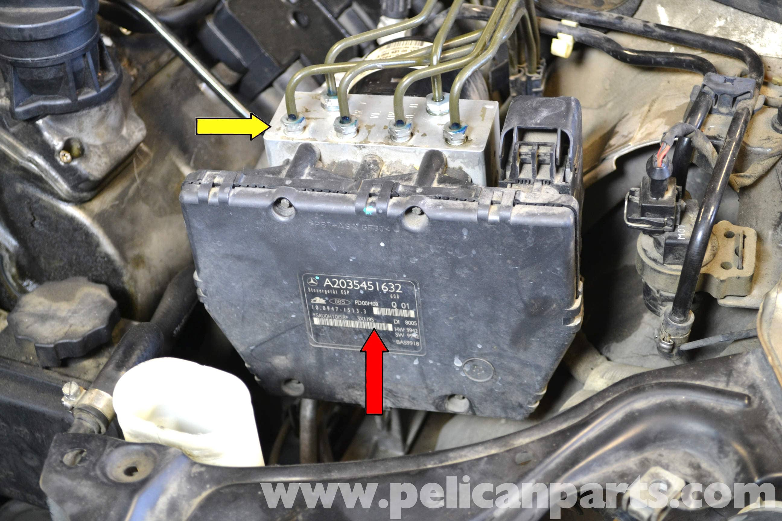 pic02 mercedes benz w203 abs control module replacement (2001 2007 Chevy Engine Wiring Harness at panicattacktreatment.co