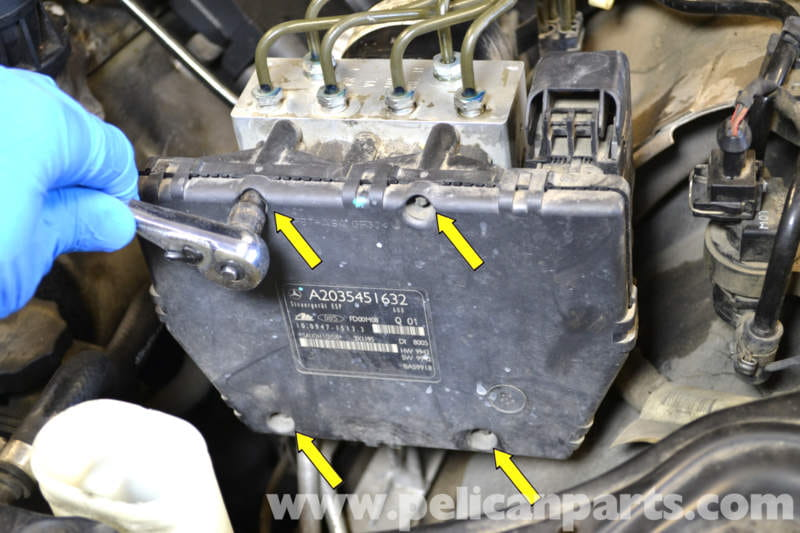 mercedes benz  abs control module replacement