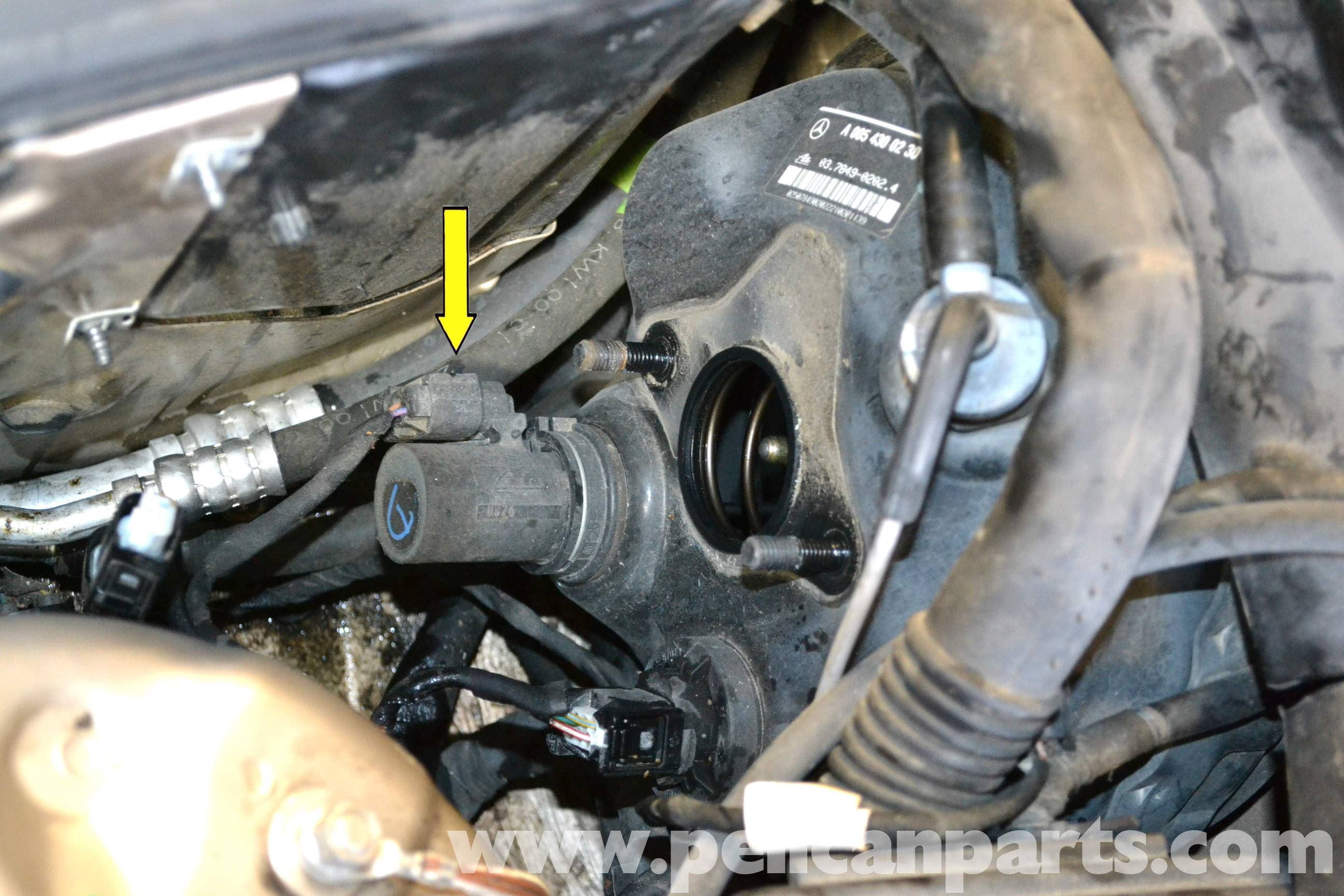 Mercedes Benz W203 Brake Booster Diaphragm Positioning Sensor 2001 S430 Car Wiring Harness Diagram Large Image Extra