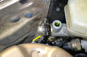 There is a rocker plenum on the front of the master cylinder.