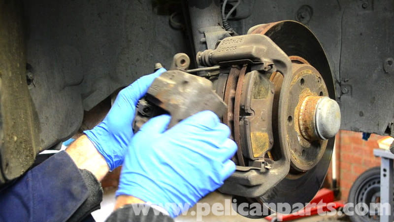 How To Check Brake Fluid >> Mercedes-Benz W203 Front Brake Caliper Replacement - (2001 ...