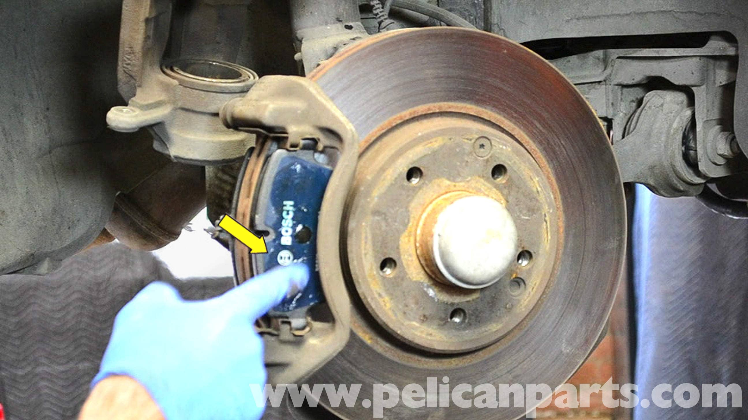 Mercedes Benz W203 Front Brake Pad Replacement 2001