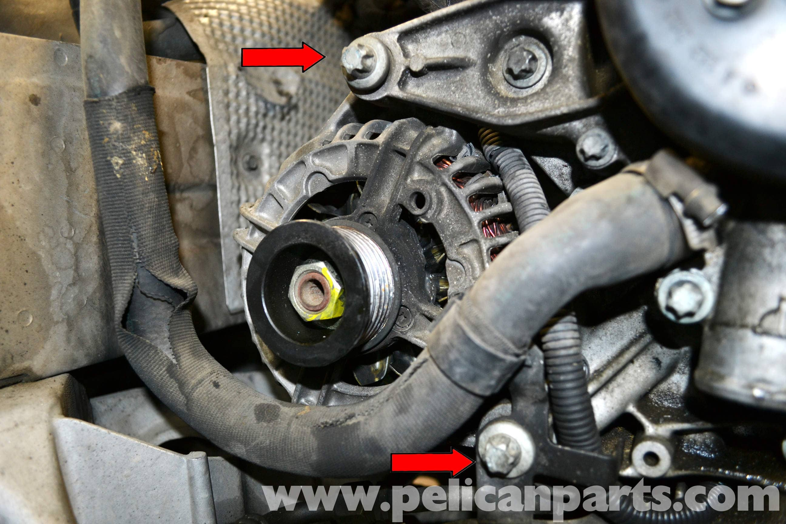 pic09 mercedes benz w203 alternator replacement (2001 2007) c230, c280 mercedes slk 230 radio wiring diagram at nearapp.co
