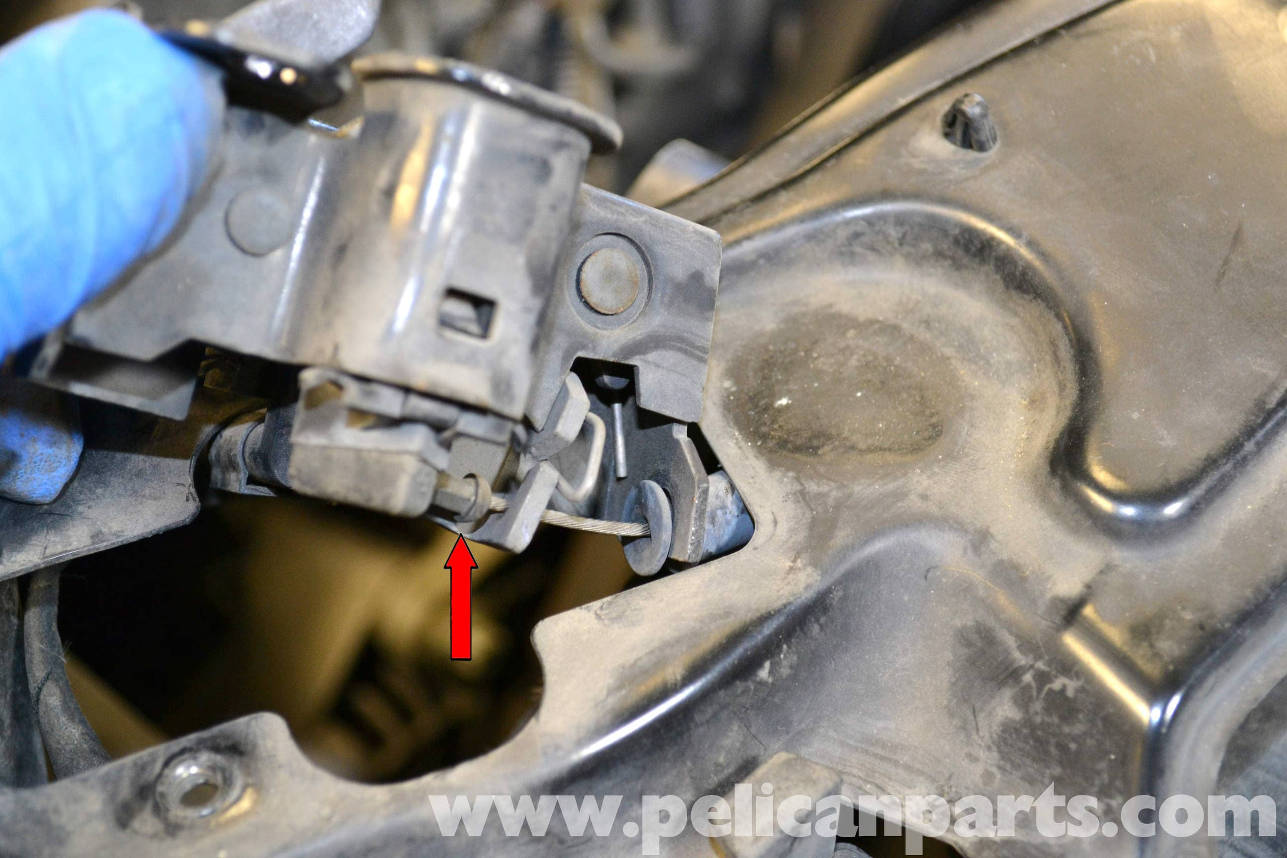 how to change vk bonnet release cable