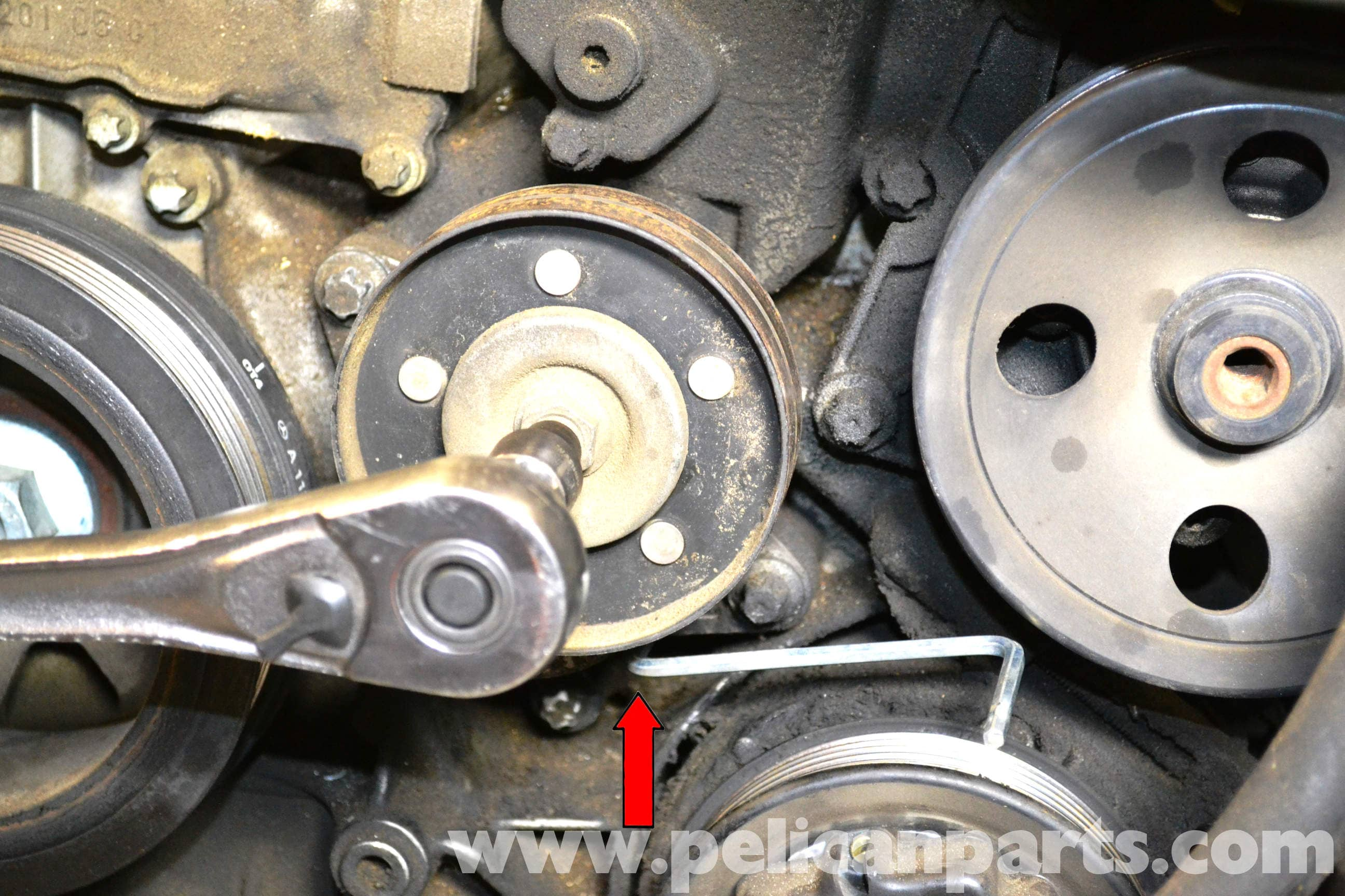 Mercedes-Benz W203 Idler Pulley Replacement - (2001-2007