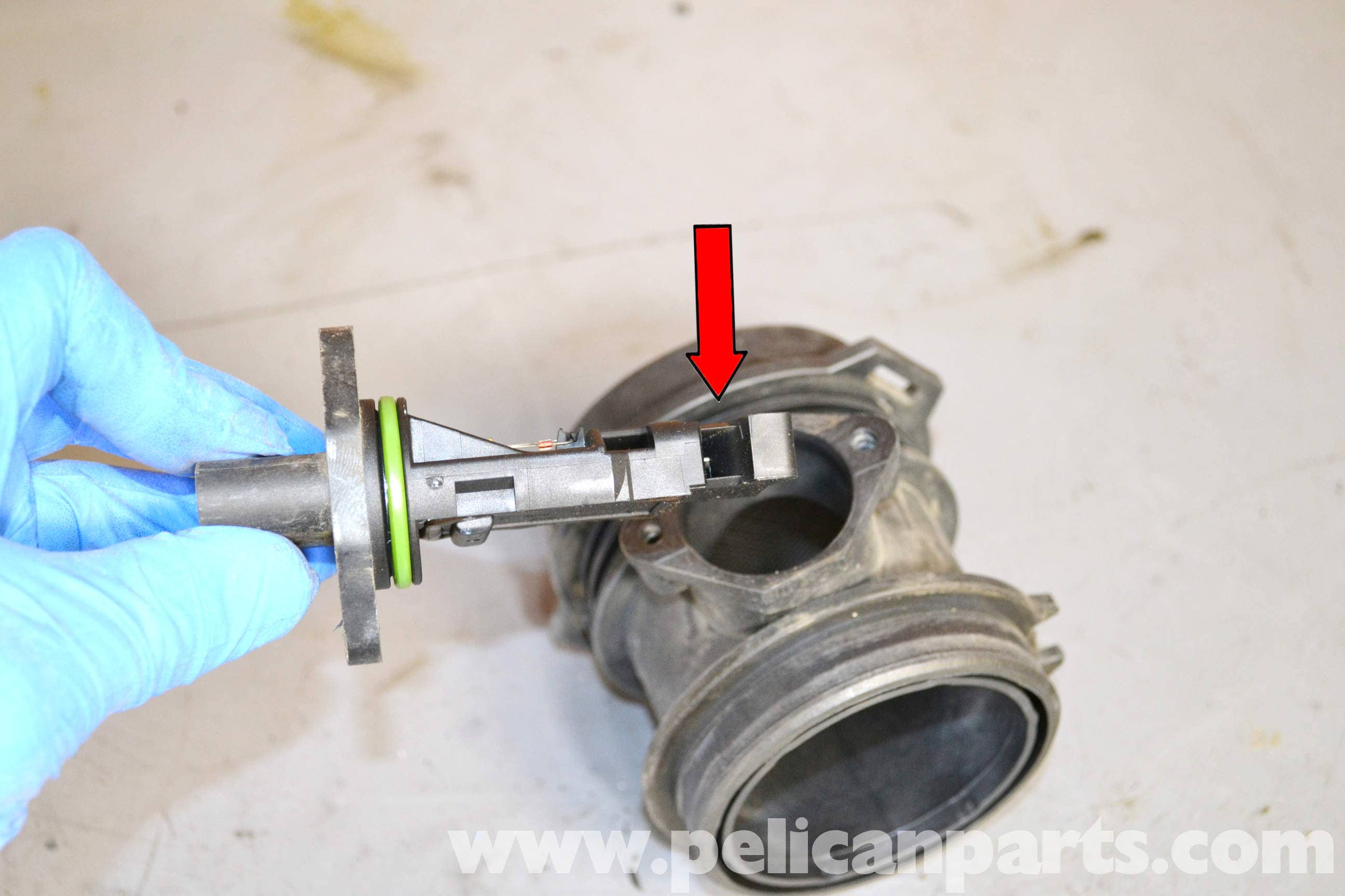 Mercedes Benz W203 Maf Mass Air Flow Sensor Replacement 2001 2003 Dodge Ram Wiring Diagram Large Image Extra