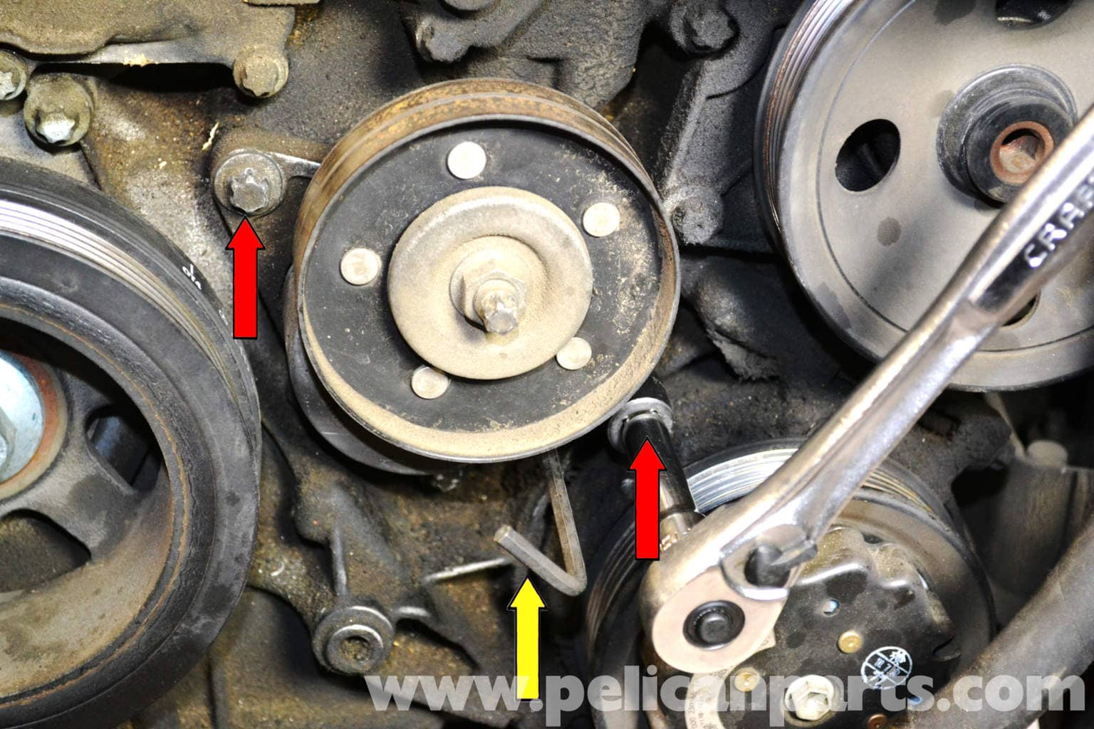 Mercedes Benz W203 Belt Tensioner Replacement 2001 2007