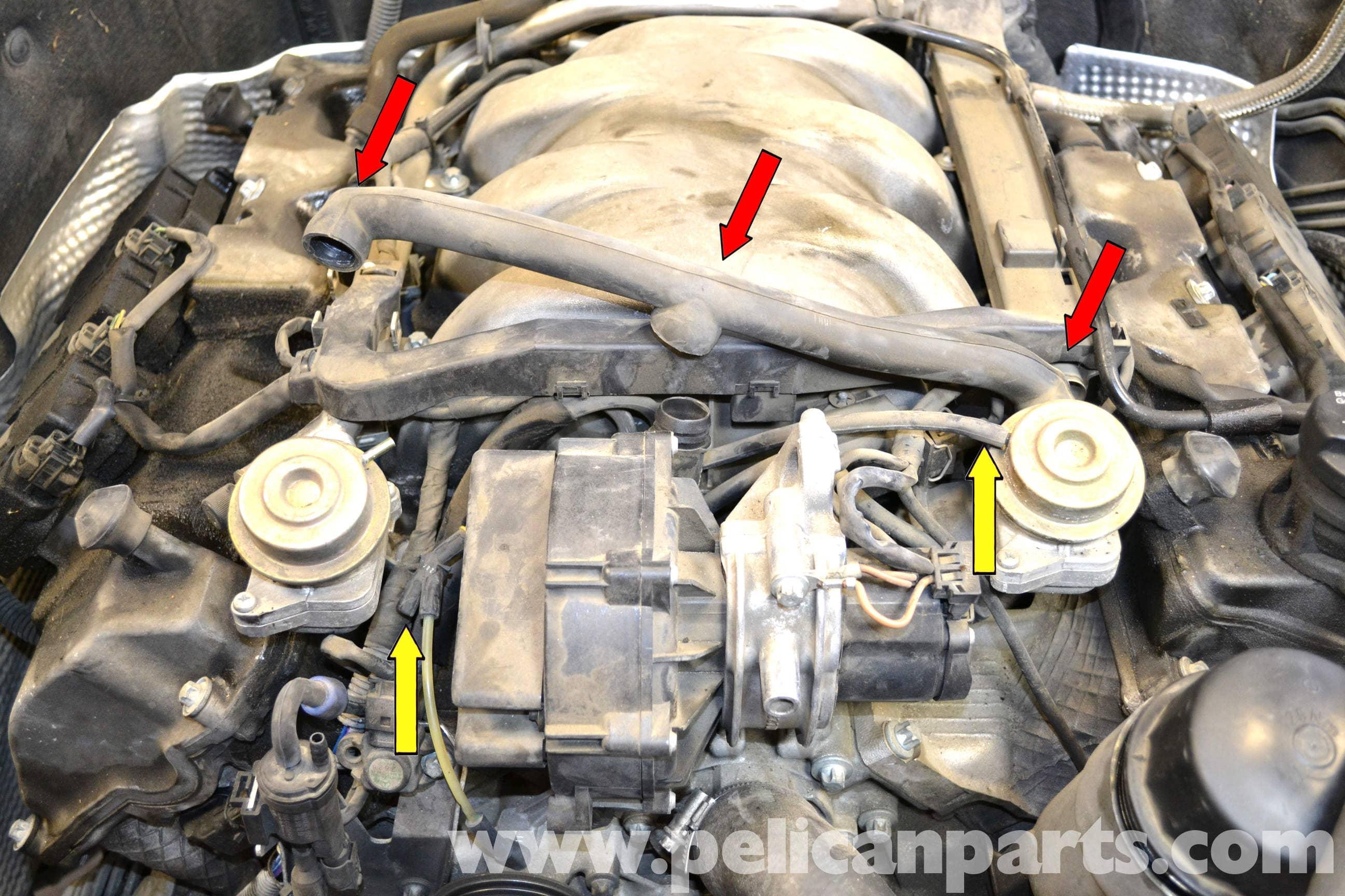 Mercedes-Benz C240 C280 Air Pump Check Valve Hose Check Valve to Check Valve