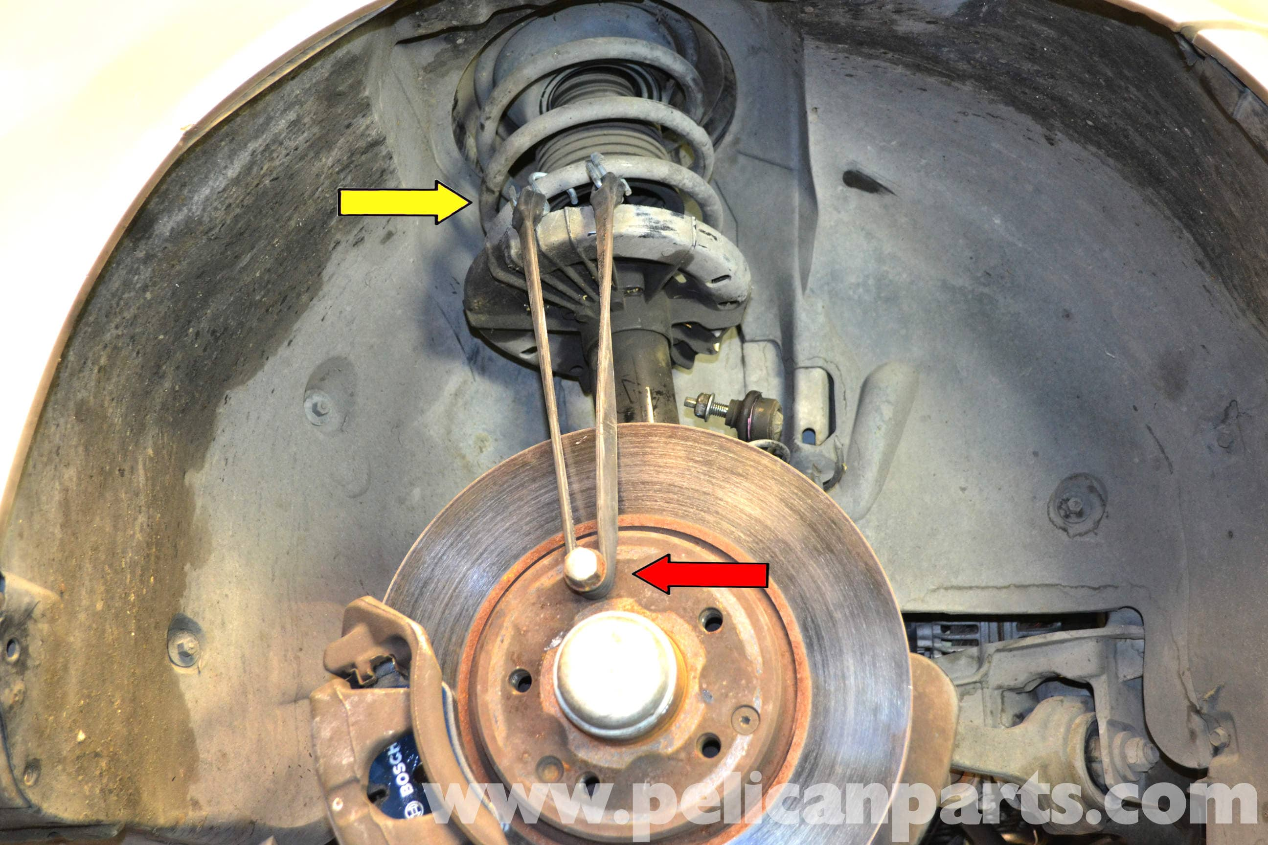 Mercedes-Benz W203 Front Control Arm Replacement - (2001