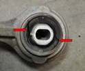 The bushings are known to be a weak point on the W203s and should be inspected every 30,000 miles.