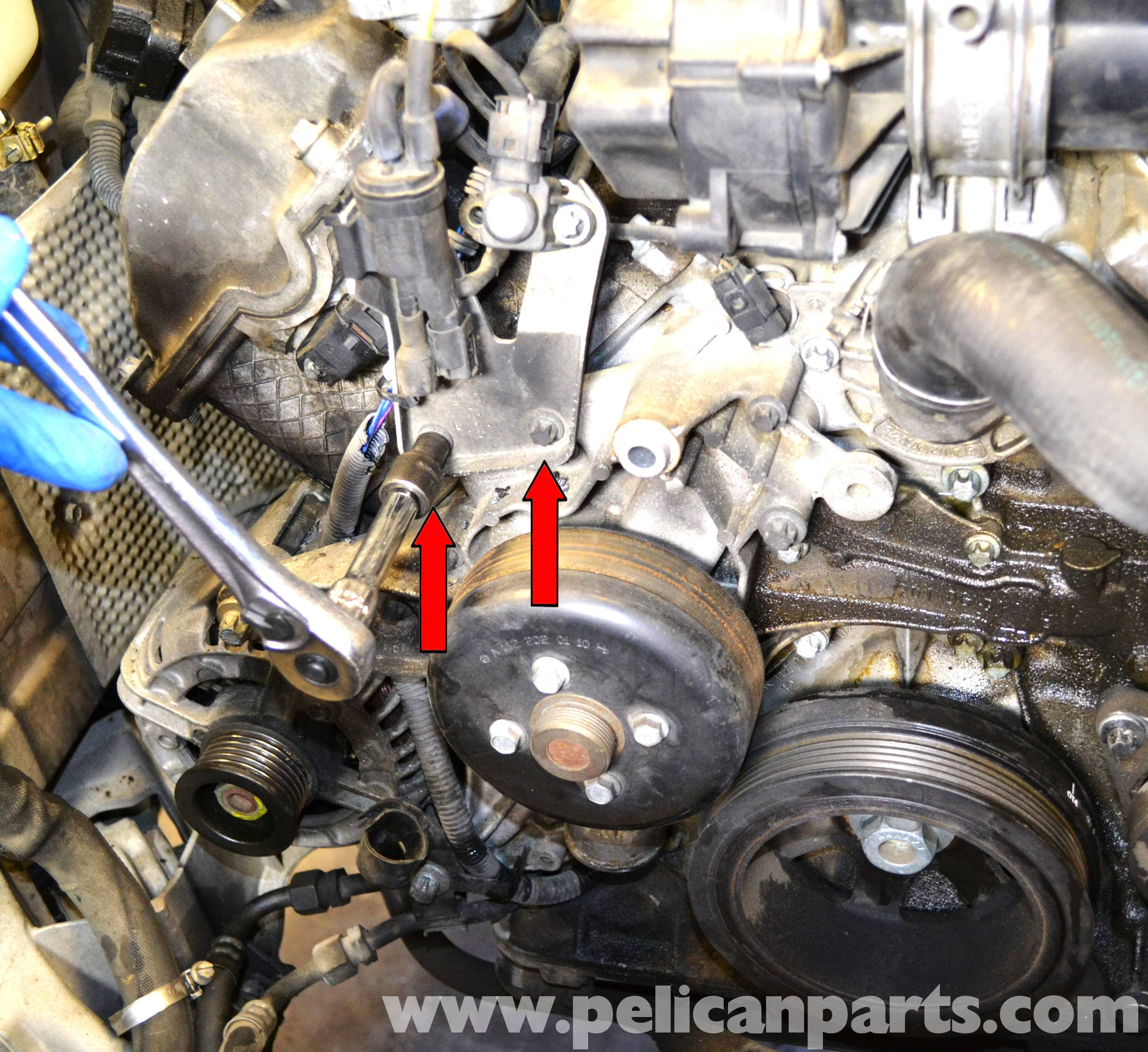 Mercedes benz w203 water pump replacement 2001 2007 for Mercedes benz coolant autozone