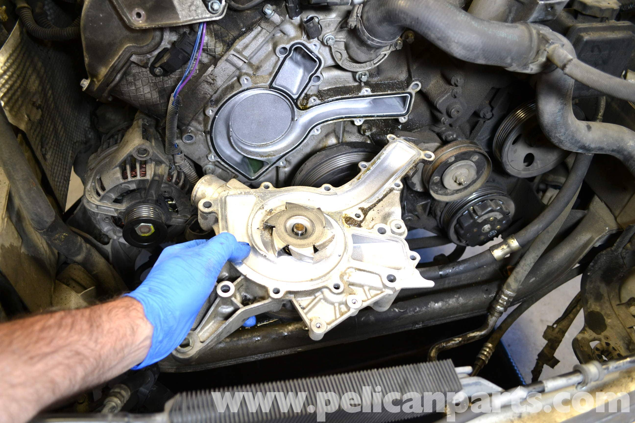 mercedes benz w203 water pump replacement (2001 2007) c230, c280large image extra large image