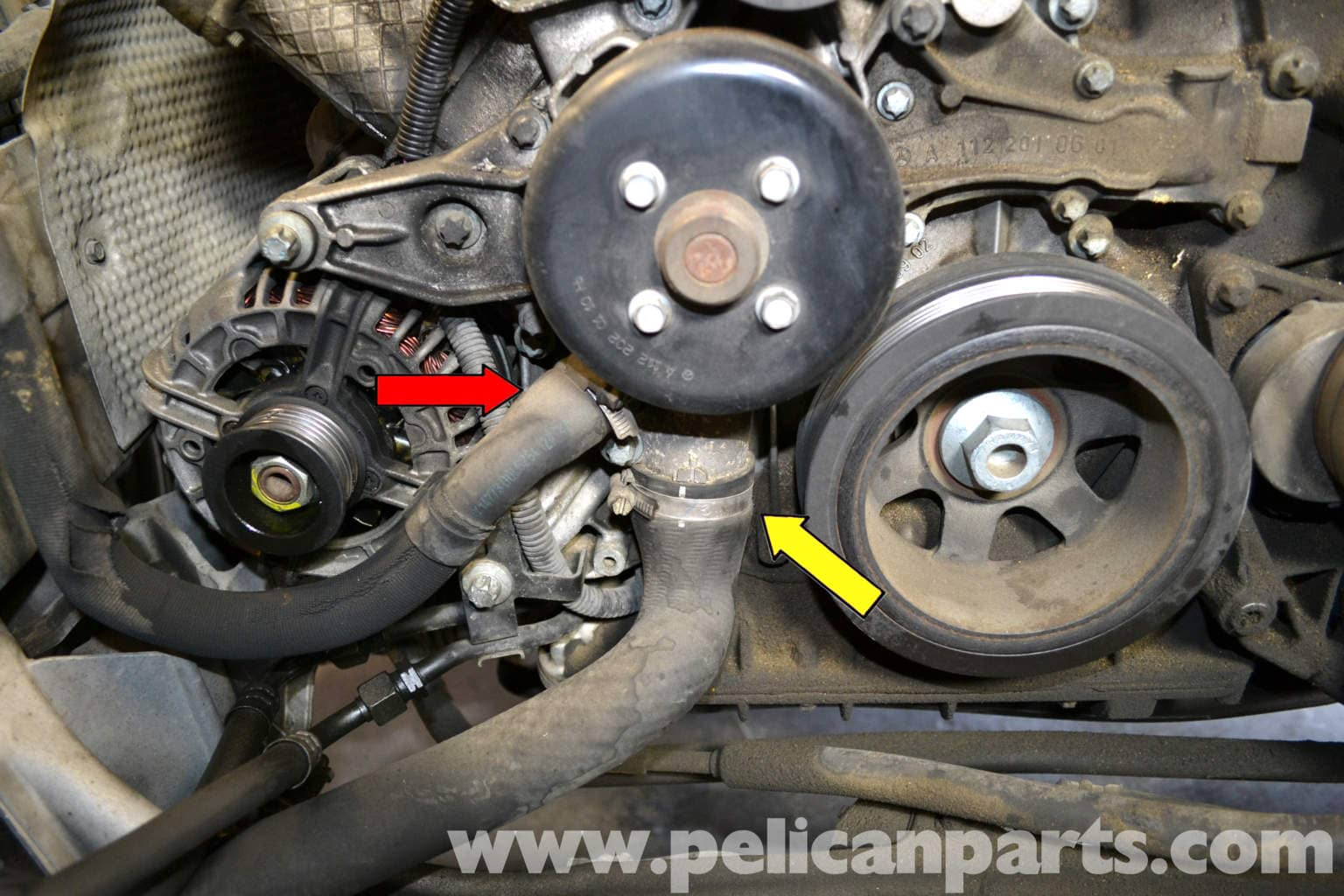 Mercedes-benz W203 Radiator Hose Replacement