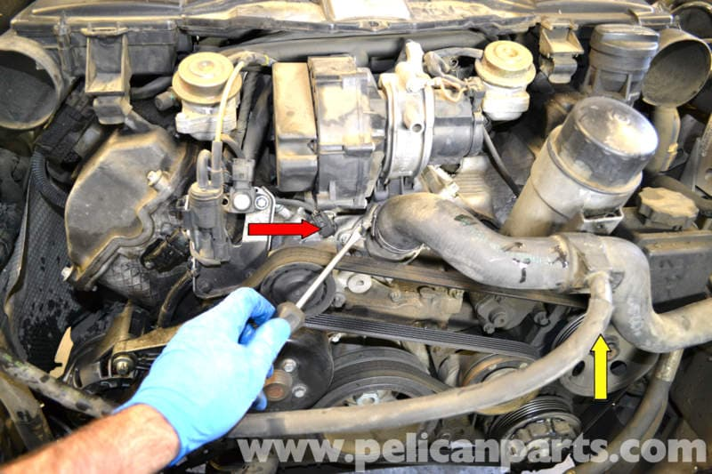 Mercedes Benz W203 Radiator Hose Replacement 2001 2007