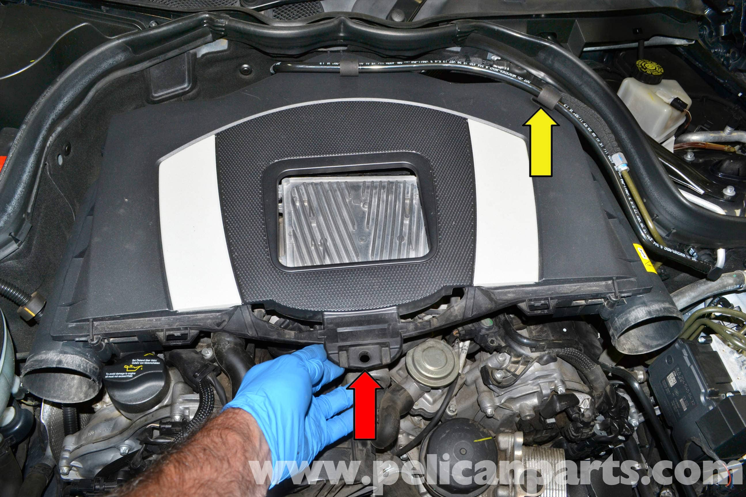 Mercedes benz w204 engine cover removal 2008 2014 c250 for Mercedes benz c300 engine