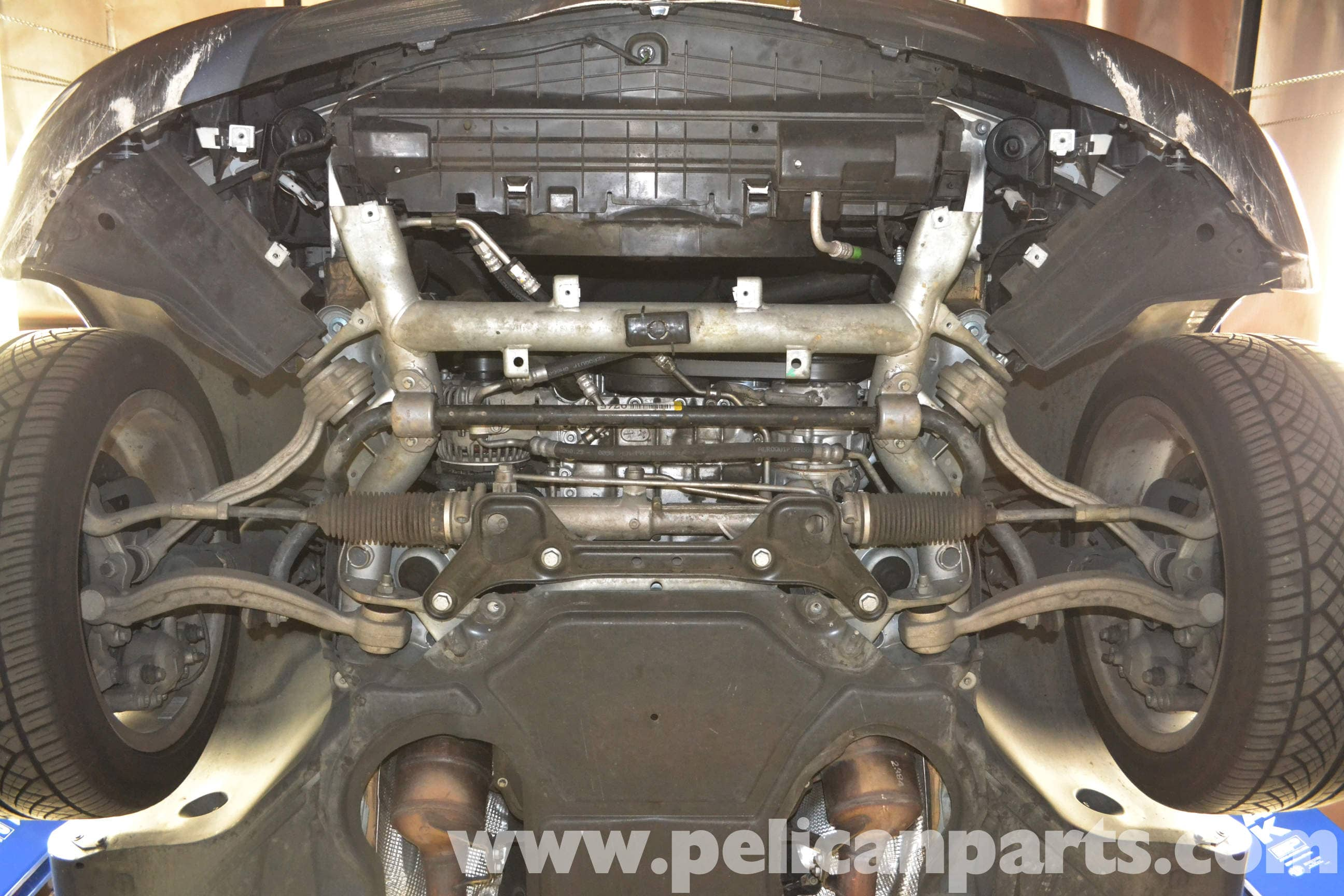 Mercedes Benz W204 Underbody Tray Removal 2008 2014 C250 C300 Engine Exhaust Large Image Extra