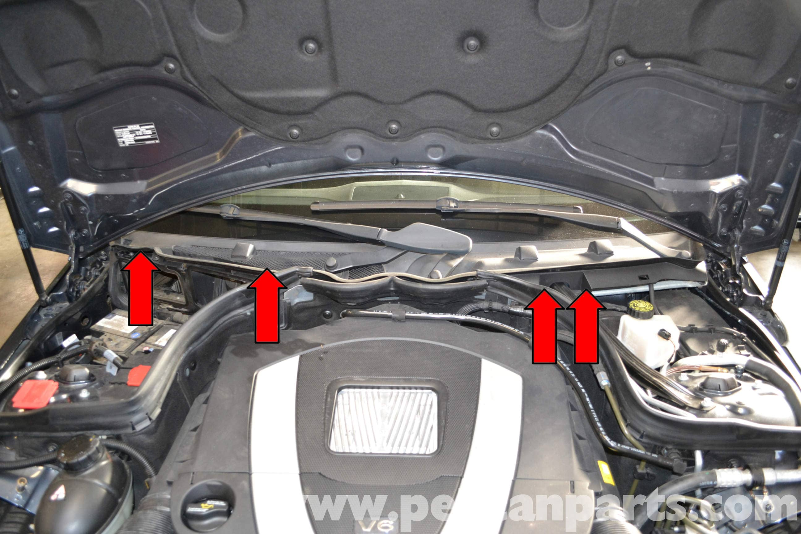 Mercedes benz w204 wiper arm and motor replacement 2008 for Mercedes benz c300 battery