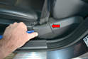 Front Seats- Next, you will have to remove the seat belt from the front seat.