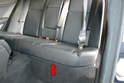 Rear Seat- Begin by removing the rear seat cushion.