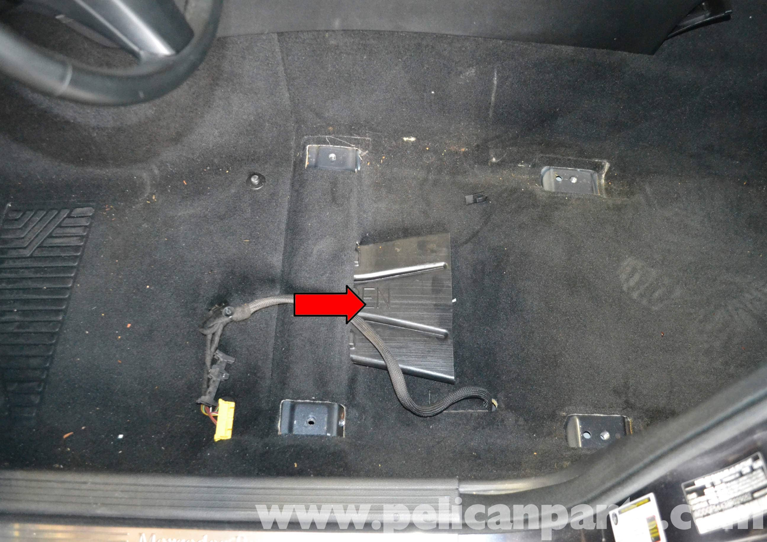 Mercedes-Benz W204 Yaw Rate Sensor Replacement - (2008-2014) C250