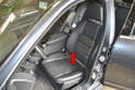 The sensor is located under the driver side seat.